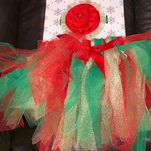 Other - Toddler girls Christmas tutu and matching headband